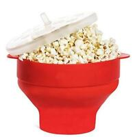 AU Microwave Silicone Popcorn Popper Maker Red Collapsible Bowl Kitchen DIY Tool