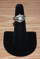 900 Platinum 10% Iridium 14K White Gold Engagement Moissanite Diamond Ring SZ: 6