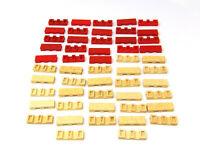 Vintage Bayko Long Bricks x 52. Plastic. Red and Cream. VGC.