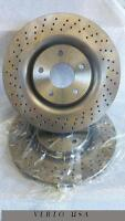 Front Brake Rotors Drilled & Slot  For Cadillac XLR , Chevrolet Corvette