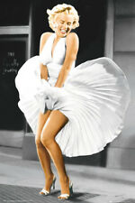 Marilyn Monroe Poster Iconoic Blowing Dress from Seven Year Itch, 24x36