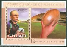 GUINEA 2013 RUGBY WORLD CUP SOUVENIR  SHEET   MIN NH