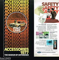 1977 FORD OPTIONS / Accessories Guide Brochure /Catalog:Pinto,Mustang,Wheels,LTD