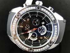 Mens Techno Com KC Joe Rodeo Master Genuine WG Clear WWBL Diamond Watch 1.65 Ct