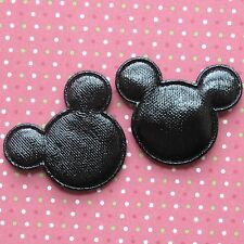 "US SELLER - 40 pc x 1.5"" Padded PVC/Vinyl MOUSE Appliques for Mickey Craft ST617"