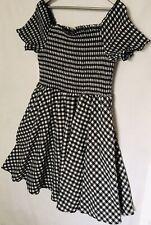 Size Small / 16-18 City Chic Dress A-Line Cotton Black & White Rockabilly Style
