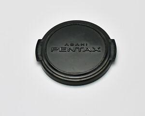 Genuine Asahi Pentax 49mm Snap On Front Lens Cap Silver Black SMC (2710)