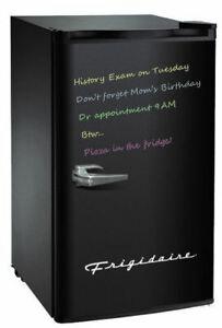 Frigidaire 3.2 Cu Ft Retro Dry Erase Compact Fridge, (EFR331-BLACK), Black