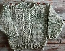B28 - Knitting Pattern - Baby's & Children's  Aran Jumper - 3 Sizes