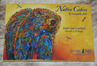 LEANIN TREE Native Colors GREETING CARDS~Blank~1 ea 20 designs~#90796~M. Jones~