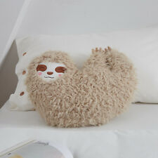 Soft Furry Sloth Pillow Cushion Stuffed  Plush Toy Gifts for Kids Home Sofa Deco