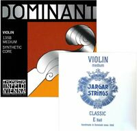 Thomastik Dominant Violin String Custom Set 4/4 With E Jargar Ball, Medium Gauge