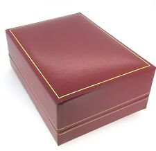 Red Faux Leather Quality Presentation Double Watch Gift Box