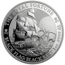 Tuvalu - 1 Dollar 2020 - The Royal Fortune - Black Flag (2.) - 1 Oz Silber ST