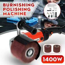 1400W Electric Burnishing Drawing Machine Burnisher Sander Polisher+ 2 Wheel