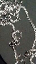 """Nouveau 18 Ct or Blanc Collier Longueur 20"""" (50 cm) 2.20 g 750/000 100% hallmarke"""