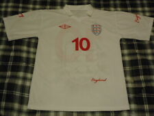England #10 WAYNE ROONEY - World Cup Soccer Throwback Jersey - Adult Large