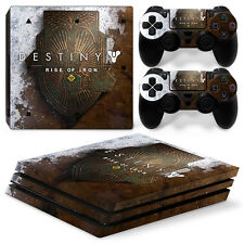 PS4 Pro Playstation 4 Skin Decal Sticker Destiny Rise Of Iron Custom Design Set