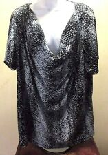 Women's Plus Size  NWOT Draped Front, Slinky Shirt, Blouse by Jaclyn Smith - 2X