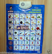 Set of 14 PCS Learn Chinese & English 2 Pronunciation, Voice Chart for children