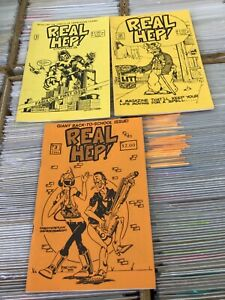 Real Hep! Comic Fanzine Lot #1 #2 #3 Reed Waller Rich Larson Steeldragon Press