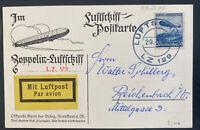 1936 Friedrichshafen Germany Hindenberg Zeppelin LZ 129 RPPC Postcard cover
