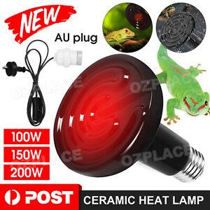 Infrared Ceramic Heat Emitter Lamp Bulb /Holder for Reptile Pet Brooder E27