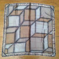 True Vintage Abstract Geometric Satin Scarf
