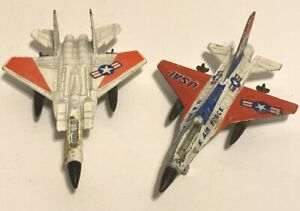 VINTAGE GENERAL DYNAMICS ZYLMAX A145 F-15 EAGLE &  A144 F-16 FIGHTING FALCON
