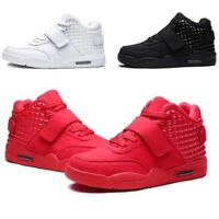 UK Mens Teens Pumps Mesh Trainers Breathable High Top Lace Up Sports Shoes Sizes
