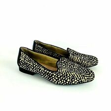 New Adam Tucker Me Too Calf Hair Animal Print Loafer Yalec Tan Black Burma Sz 8M