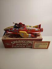 FLASH GORDON SPARKLING Tin Friction Powered ROCKET Fighter SPACESHIP - Schylling