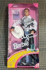 1993 VINTAGE WESTERN STAMPIN' Stamping KEN Barbie DOLL COWBOY Hat Boots #10294