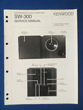 KENWOOD SW-300 POWERED SUBWOOFER SERVICE MANUAL ORIGINAL FACTORY ISSUE GOOD COND