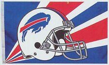 Buffalo Bills Huge 3'x5' NFL Licensed White Helmut Flag / Banner - Free Shipping