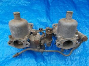 Early Style SU Carburetors for Jaguar XK120