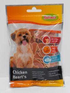 """Snacks Leckerlie für Hunde - Bubimex """"Chicken Heart´s"""" - Huhn und Fisch - 100g"""
