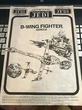 Vintage Star Wars TRI LOGO B WING FIGHTER 1983 PALITOY MECCANO INSTRUCTIONS