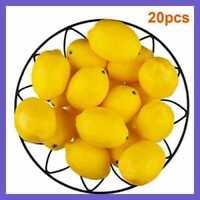 20Pcs Lemon Lifelike Artificial Plastic Fake Fruits Imitation Party Home Decor~