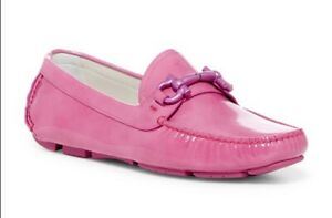 "Ferragamo ""Parigi Driver"" - US 7/EU 37 - Pink Patent Leather w Horsebit Loafer"