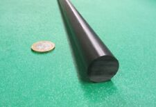 "Acetal Delrin POM Round Rod, Black 7/8"" (.875"") Dia x 60"" Length"
