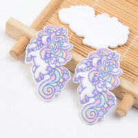 5x Unicorn flatback resin cabochon For DIY Phone Deco Scrapbook Embellishment BR