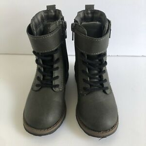 Carter's Size 8 Toddler Army Green Boots NWOT