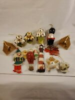 Vintage Christmas Ornaments Lot Of 12
