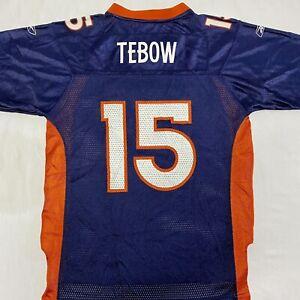 Reebok Tim Tebow # 15 NFL Denver Broncos Replica Football Jersey Youth Large L