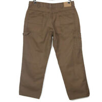 CE Schmidt Workwear Mens Carpenter Utility Jeans Pants Size 38 X 30 Brown
