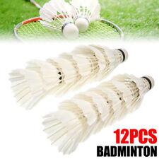 12PCS Goose Feather Badminton Birdies Shuttlecocks Durable Sport Training Ball