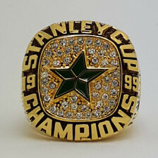 Year 1999 Dallas Stars Stanley Cup Championship Copper Ring 8-14Size