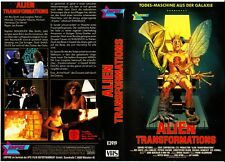 "VHS - FSK 18 - "" ALIEN Transformations "" (1988) - Rex Smith"