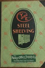 VINTAGE 1920 Y AND E STEEL SHELVING CATALOG PALLEY OFFICE SUPPLY WORCESTER MA